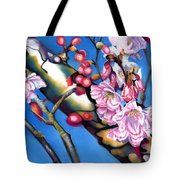 Spring Cherry Blossoms Tote Bag