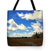 Spring Clouds Over The Marsh Tote Bag