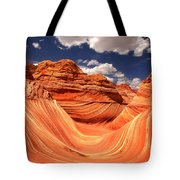 Spring Clouds Over The Wave Tote Bag