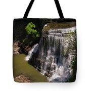 Spring Color At Burgess Lower Falls Tote Bag