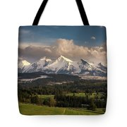 Spring Comes To The High Tatra Mountains In Poland Tote Bag
