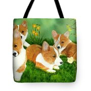 Spring Corgis Tote Bag
