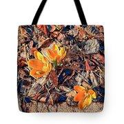 Spring Crocus Flower Tote Bag