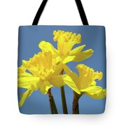 Spring Daffodil Flowers Art Prints Canvas Framed Baslee Troutman Tote Bag