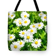 Spring Daisy In The Meadow Tote Bag