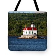 Spring Evening At Esopus Lighthouse Tote Bag