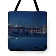 Spring Evening At The Mackinac Bridge Tote Bag