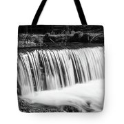 Spring Falls At Hodgson Grayscale Tote Bag