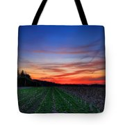 Spring Field Tote Bag