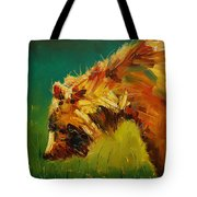 Spring Flower Bear Tote Bag