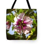 Spring Flower Peeking Out Tote Bag