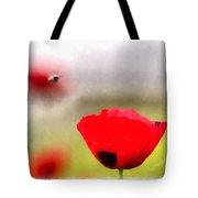 Spring Flowering Poppies Tote Bag by Michael Goyberg