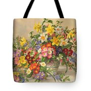 Spring Flowers And Poole Pottery Tote Bag by Albert Williams
