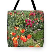 Spring Flowers In A Garden Tote Bag