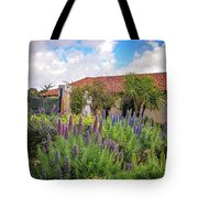 Spring Flowers In The Carmel Mission Garden Tote Bag
