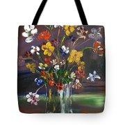Spring Flowers In Vase Tote Bag