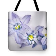 Spring Flowers On White Tote Bag