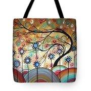 Spring Flowers Original Painting Madart Tote Bag