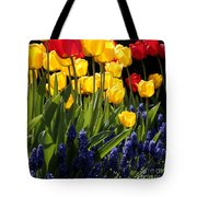 Spring Flowers Square Tote Bag