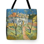 Spring  Garden In Bloom My Reproduction Of Malevichs Work Tote Bag