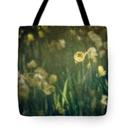 Spring Garden With Narcissus Flowers Tote Bag