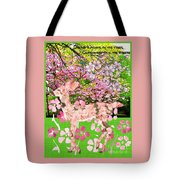 Spring Greeting With Poem Tote Bag