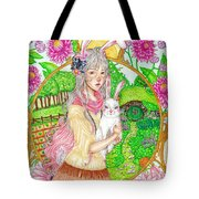 Spring Hare Tote Bag