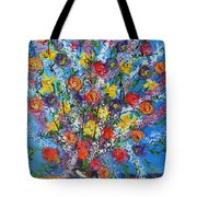 Spring Has Sprung- Abstract Floral Art- Still Life Tote Bag