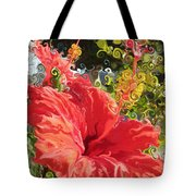 Spring Hibiscus Tote Bag