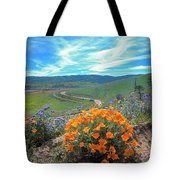 Spring Hilltop View Tote Bag