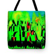 Spring In Digital Forest Tote Bag