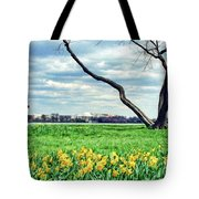Spring Jog On The Potomac Tote Bag