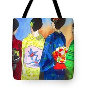 Spring Kimono Tote Bag