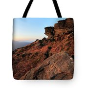 Spring Landscape, Gritstone Rock Formations, Stanage Edge Tote Bag