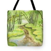 Spring Landscape, Watercolours Tote Bag