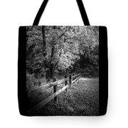 Spring Leaves B/w Tote Bag