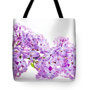 Spring Lilac Flowers Blooming Isolated On White Tote Bag