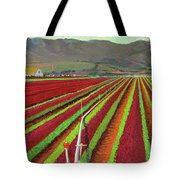 Spring Mix Lettuce Fields Tote Bag