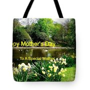 Spring Mother's Day Greeting Tote Bag