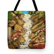Spring Mountain Waterfall Tote Bag