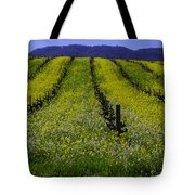 Spring Mustard Field Tote Bag