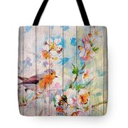 Spring On Wood 06 Tote Bag