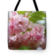 Spring Pink, Green And White Tote Bag