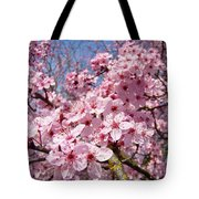 Spring Pink Tree Blossoms Art Print Baslee Troutman Tote Bag