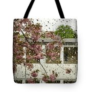 Spring Rain Outside The Window And Sakura Tote Bag