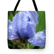Spring Raindrops Blue Iris Flower Water Baslee Troutman Tote Bag