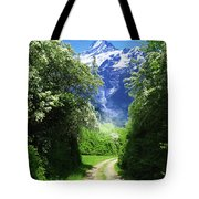 Spring Road To Mountains Tote Bag