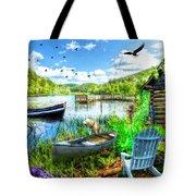 Spring Serenity At Lakeside Tote Bag