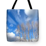 Spring Sky And Cotton Trees Tote Bag