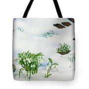 Spring Snowdrops Tote Bag by Helen Klebesadel